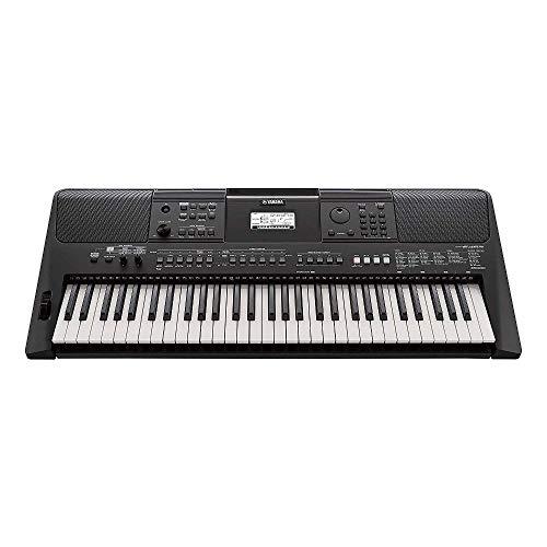 Yamaha PSR-E463 – Clavier électronique avec 61 touches – Instrument de musique portable – Simple à utiliser – Idéal pour s'initier – Noir