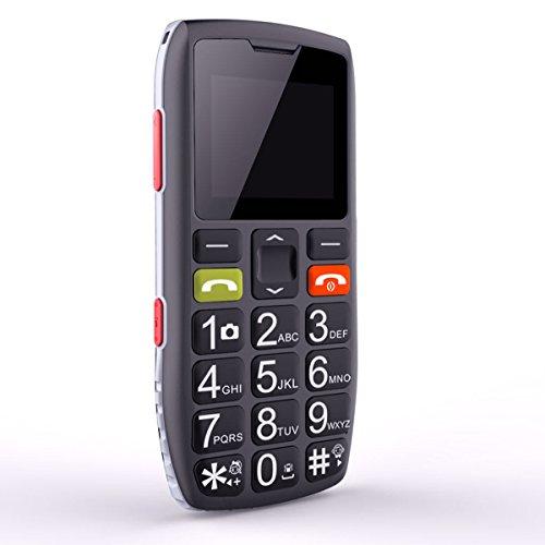 Téléphone portable sénior débloqué avec grandes touches