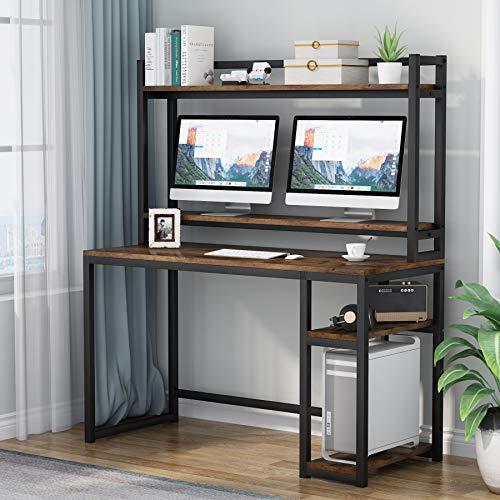 Tribesigns Bureau d'ordinateur, avec étagères de Rangement,...