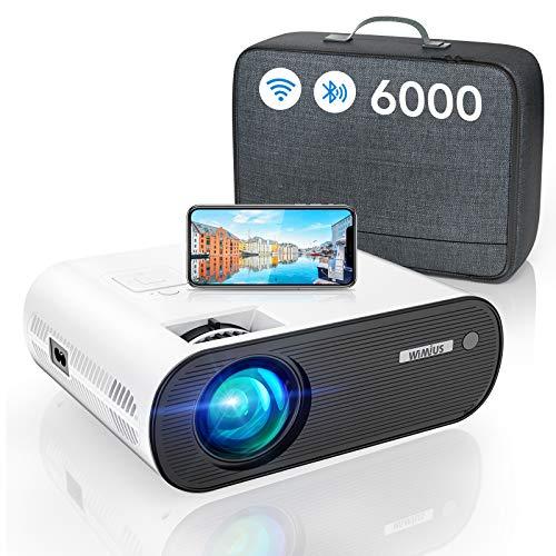 Vidéoprojecteur WiFi Bluetooth, 6000 Lumens WiMiUS...
