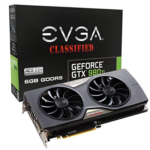 EVGA 06G-P4-4998-KR Carte Graphique Nvidia GeForce GTX 980Ti 1190 MHz 6144 Mo PCI Express