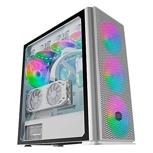 MARSGAMING Mars Gaming MCPROW Blanc boîtier de jeu PC
