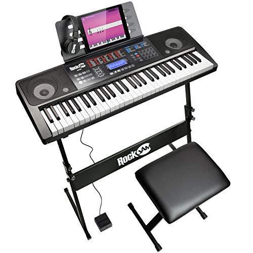 Rockjam 61 Kit Clavier Piano 61 Écouteurs Clés Stand Clavier...